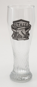 Pilsner Glass With Italy Badge