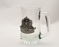 Glass Mug With Deutschland Crest