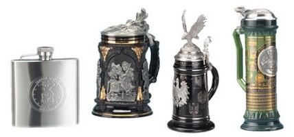 Stoneware & Pewter Beer Steins