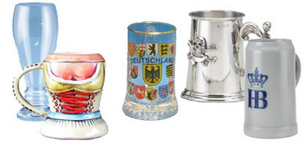 German Beer Mugs & Vessels