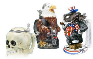 More Beer Stein Figurines
