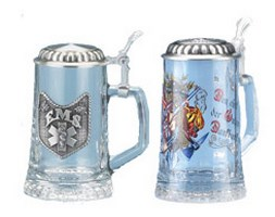 Professions Glass Beer Steins