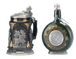Pewter Artistic Cast Beer Steins