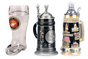 USA Theme German Made Beer Steins