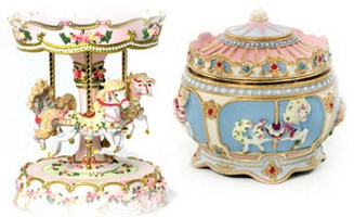 Carousel music boxes