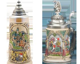 1001 Beer Steins – Castles & Knights Beer Steins