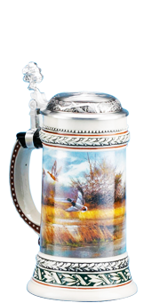 We carry steins from many makers including King-Werks, also known as Wuerfel & Mueller; this premier company is one of only a few remaining German stein companies that still produce every one of their beautiful steins in Germany with 100% German materials