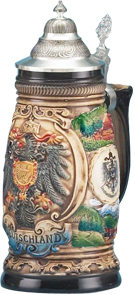 German stein companies that still produce every one of their beautiful steins in Germany with 100% German materials and labor.