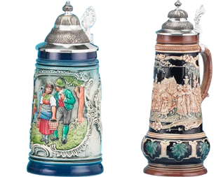 German quality and engineering is known around the world for quality, attention to detail and fine craftsmanship. We also feature distinctive steins from the renowned manufacturer Zoeller and Born.