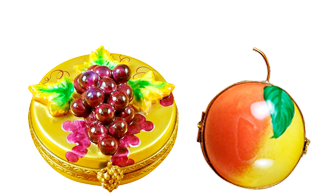 These look good enough to eat!Beautiful Fruits and Vegetables Limoges porcelain hand made in Limoges, France.