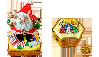 Includes Nutcracker, Snowman Couple, Studio Collection with Santa Claus, Christmas Boot, etc.