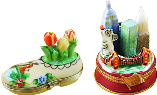 Beautiful Travel and monuments Limoges porcelain hand made in Limoges, France.
