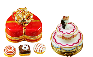 This is selection of elegant porcelain Limoges Boxes having themes that feature lifeÂ's special occasions. Includes Graduation Cap, Bride