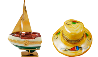 This is selection of elegant porcelain Limoges Boxes having themes that display your love of the active life. Includes Baseball, Fishing Pole, Golf Cart, Skier, etc.