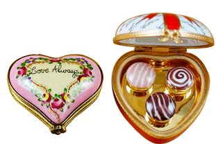 Beautiful Hearts limoges porcelain hand made in Limoges, France.