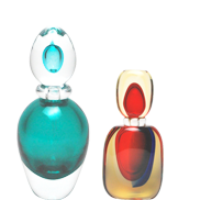 They can serve as very special containers for your personal perfumes. At the same time, when arranged on your dressing chest, they form awfully beautiful decorative objects.