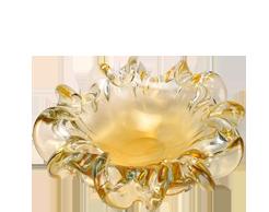 The Murano glass bowls form excellent center pieces.