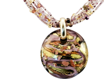 ou will feel elegant and stylish, whether you accent and dress up a casual outfit with your beautiful Murano Glass Pendant or wear it for a night on the town.