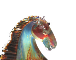 The calcedony collection of Murano glass objects are coveted by world class collectors.