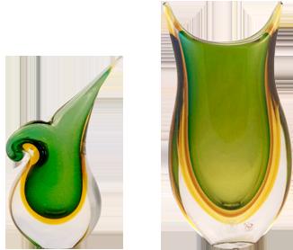 Murano glass vases are exquisite Venetian creations.