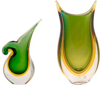 Murano glass vases are exquisite Venetian creations.