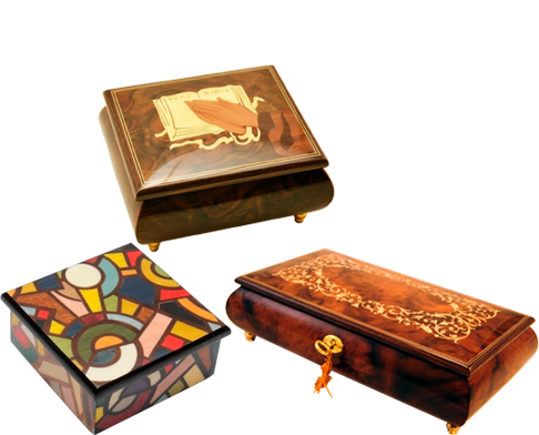These delightfully romantic music boxes will impress even the strictest connoisseurs of art because they are authentic products crafted by traditional Italian artisans.