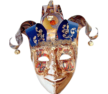 Venetian Jolly Masks