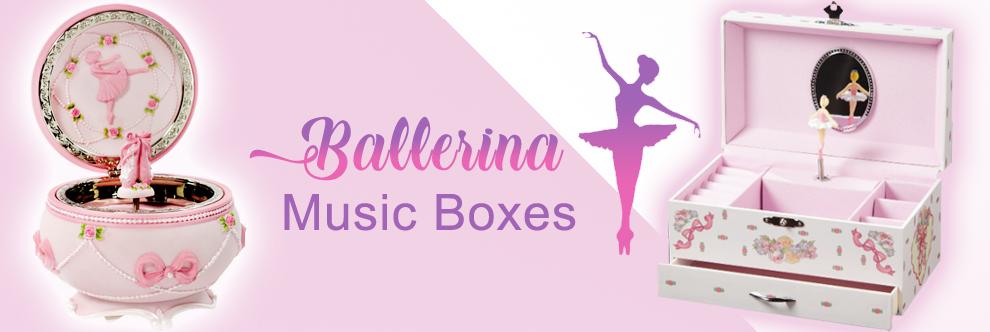 Ballerina girl music boxes