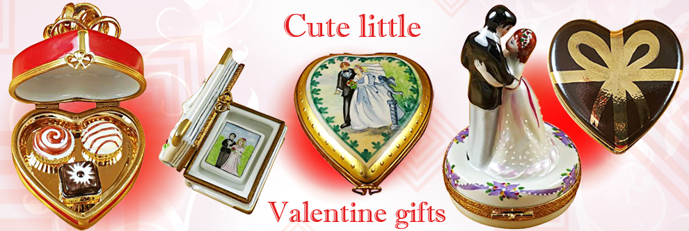 Limoges Porcelain boxes  - Gifts ideas for Valentines Day