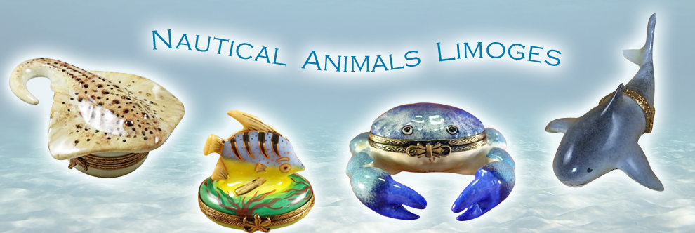 Nautical Limoges Boxes - Animals