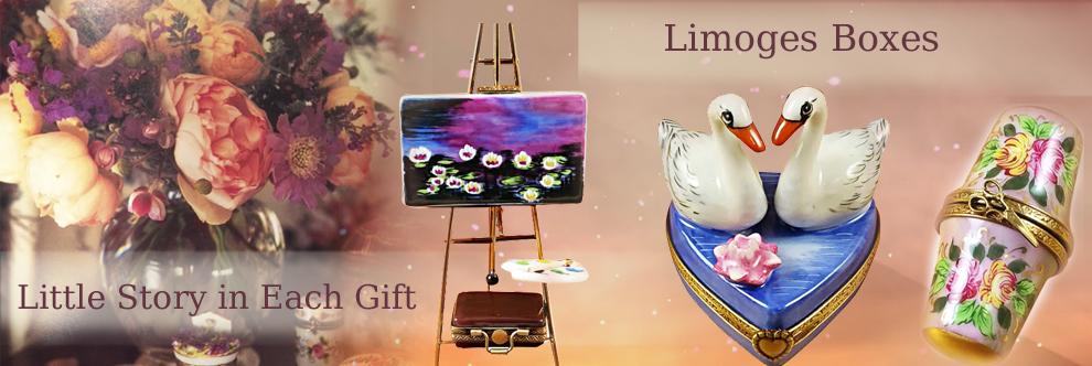 elegant porcelain Limoges Boxes - For you