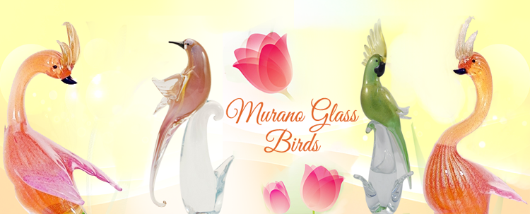 These Murano glass birds are trully  unique glass creations and products of immaginations and developed over the decades artistics skills of the famous Murano glass artists.