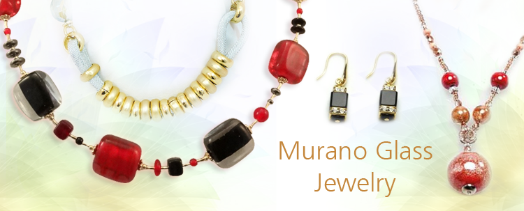 Murano Glass Jewelry -pendants, neckle, beaded neckle