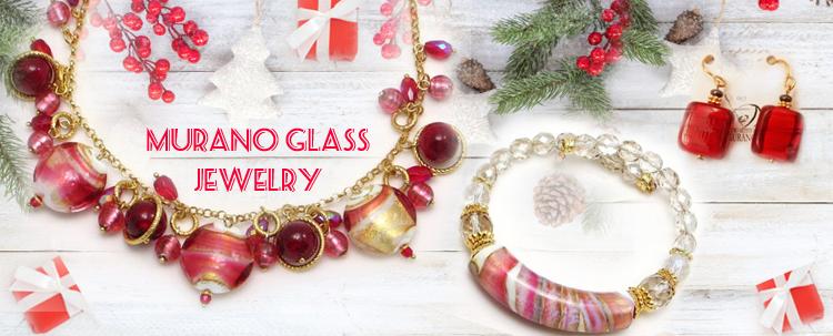 Murano Glass Jewelry -pendants, neckle, beaded neckle
