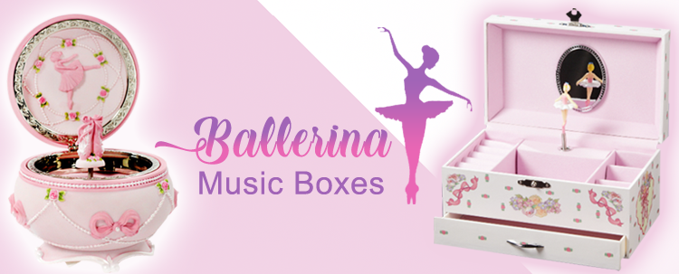 Ballerina girl music boxes