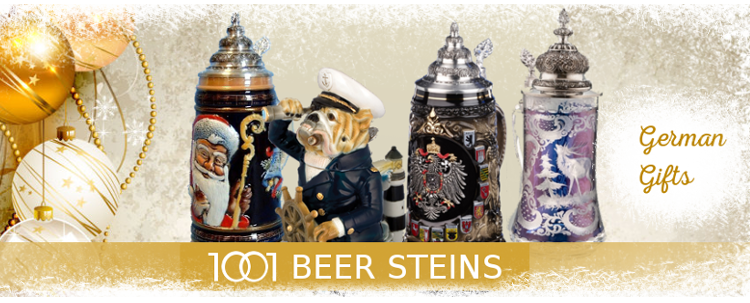 Christmas - Beer Steins offers exclusive collection of authentic German Beer Steins, Beer Mugs and Glassware: traditional beer steins, figural beer steins, beer glasses.