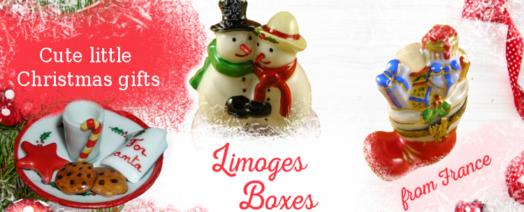 Authentic Limoges Porcelain Boxes, Figurines, miniatures and collectibles. Our products are made in France and come from many famous factories including Rochard and Artoria.