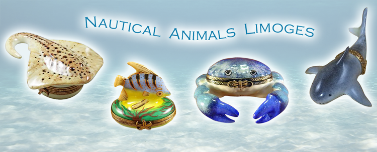 Nautical Limoge Boxes - Animals