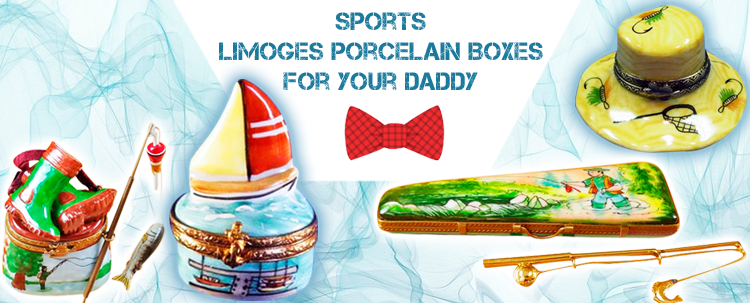 Porcelain Sports Limoges Boxes - Best gifts fo your Daddy