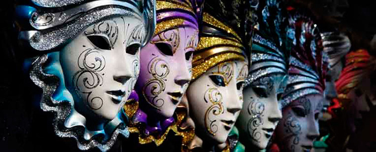 venetian masks for masquerade carnival handcrafted in italy