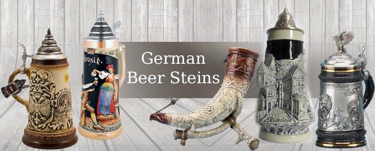 Christmas - Beer Steins offers exclusive collection of authentic German Beer Steins, Beer Mugs and Glassware: traditional beer steins, figural beer steins, beer glasses.