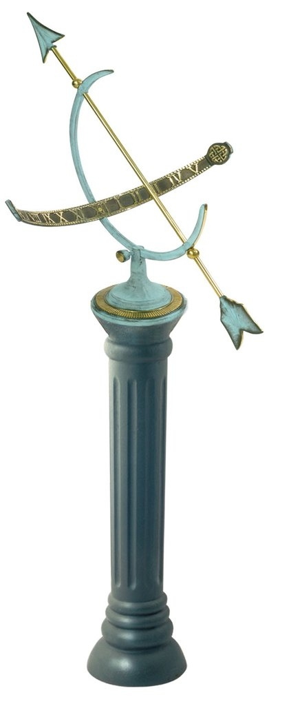 Cast Iron Sundial Pedestal (Cast Iron w/Antique Painted Finish)