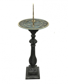 Cast Aluminum Spindle Pedestal (Antique Lead Finish)