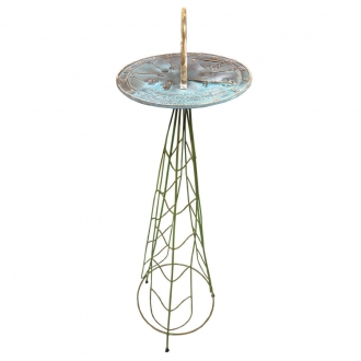 Leaves Sundial Pedestal Base (Wrought Iron w/Verdi Finish)