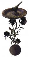 Rose Pedestal Base (Wrought Iron w/Rusty Gold Finish)