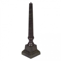 Cast Aluminum Pedestal (Copper & Green Patina Finish)